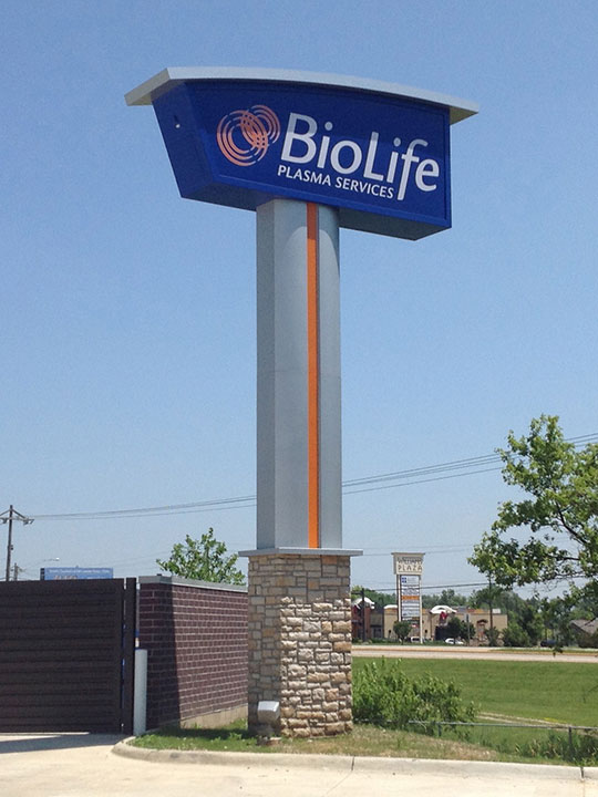Biolife Pylon with Brick Masonry