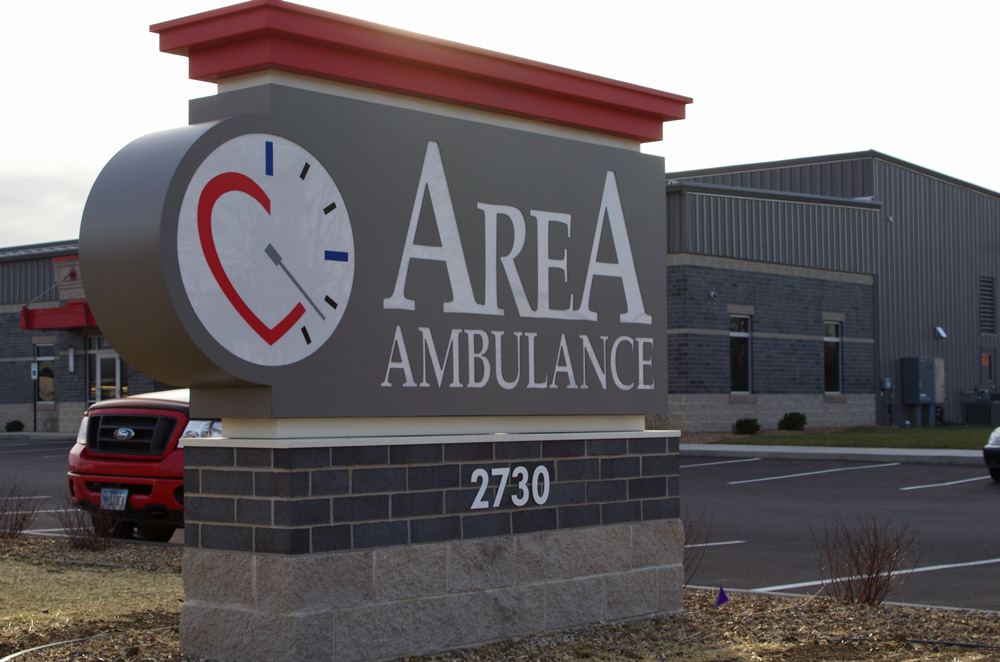 Area Ambulance Monument Sign