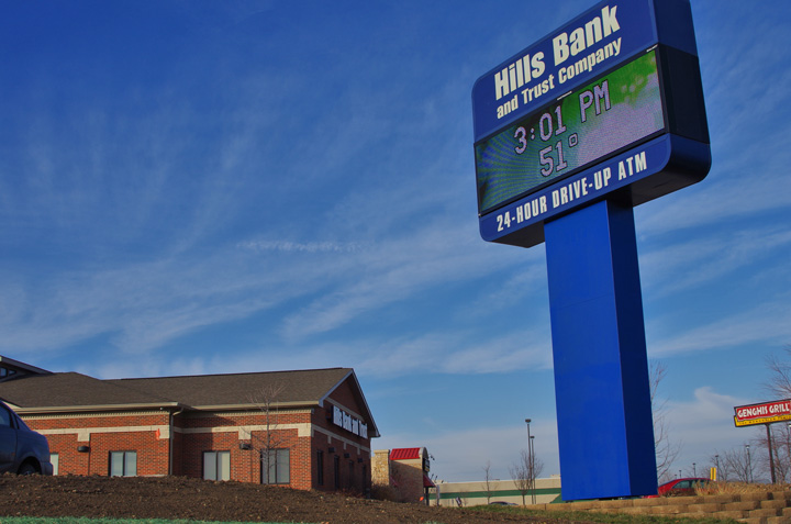 Hills Bank & Trust Pylon with EMC retrofit